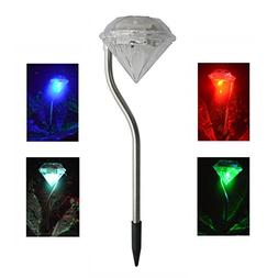 NCPOPU Solar Pathway Lights Solar Lights Outdoor Add Color T