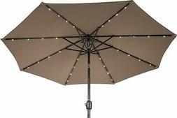 Trademark Innovations 7 FT. Solar LED Patio Umbrella