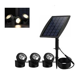 Solar Pond Spotlights,Submersible Pond Lights with 3 Lamps 1