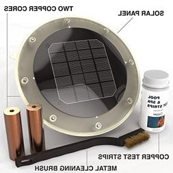 Solar Pool Ionizer Kills Algae Using 80% Less Chlorine & Kee