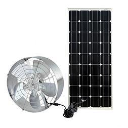 FISTERS Solar Power Attic Gable Fan - 100 Watts Monocrystall