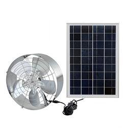 Fisters Solar Power Attic Fan,Solar Gable Fan with 65W 18V E