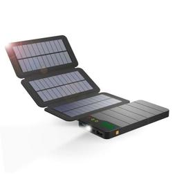 ALLPOWERS Solar Power Bank, 10000mAh Charger with Light Sens