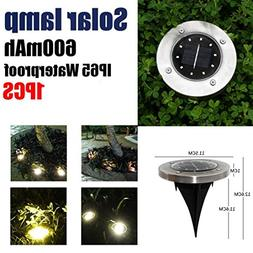 Lljin Solar Power Buried Light Ground With 10 LED Lamp Outdo