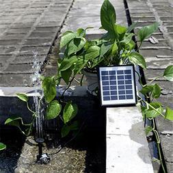 Xligo Hot 6V 1.5W Solar Power Fountain Water Pump Submersibl