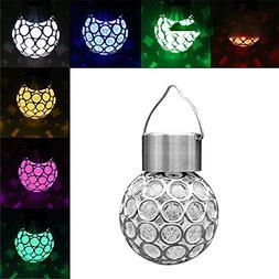 Solar Power Outdoor Light 4 Pack Waterproof Hollow Ball LED