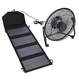 7W 5.5V Solar Power Panel Fan Ventilation Folding Bag Phone