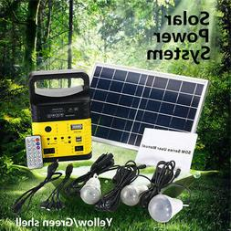Solar Power Panel Generator LED Light USB Charger Outdoor Ga