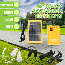 Solar Power Panel Generator System 5V USB Charger Home Outdo