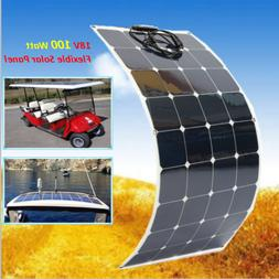 Solar Power Panels 100 Watt Flexible Bendable Solar Panel fo