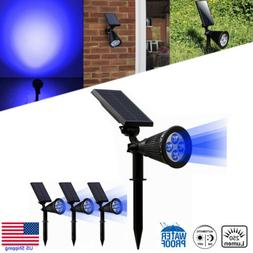 4Pack Solar Spot lights LED Garden Wall Path Landscape Outdo