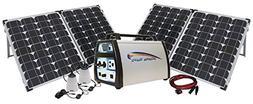 1500-Watt Solar Power Station with 1500-watt Lithium Generat