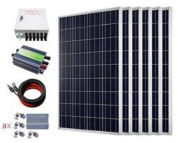 ECO-WORTHY 600W Solar Power System Off Grid: 6pcs 100W Polyc