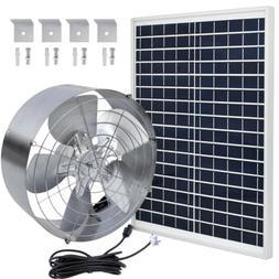 Solar Power 65W Ventilator Gable Roof Vent Fan W/ 25W Solar