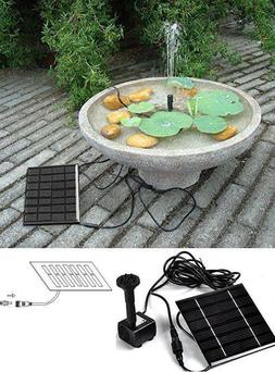 Solar Power Water Pump Kit Garden Fountain Pool Watering Pon