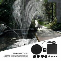 Solar Power Water Pump Kits - Garden Fountain Pool Watering