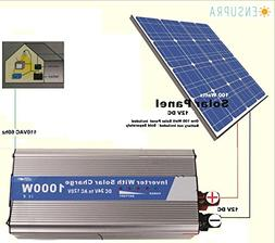 Ensupra 1000 Watt Solar Power ,Powered by 100-Watt Solar Pan