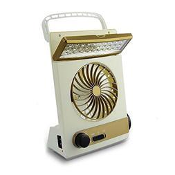 AVEKI Solar Powered 3 in 1 Multi-Function Portable Mini Fan,
