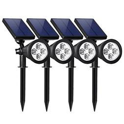 Honche Solar Powered LED Adjustable Spotlight Landscape Wall