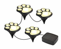 Solar Powered LED Animal Paw Lights Garden Lighting Outdoor