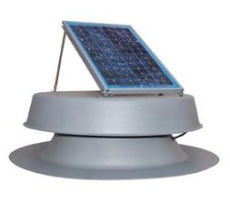 Solar Powered Attic Fan - 12 Watt Roof Exhaust Vent - Natura