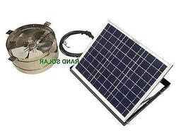 Rand Solar Powered Attic Gable Fan-20 Watt Wall/Roof Ventila