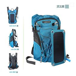 GuaziV Solar Powered Backpack With 2L Bladder Bag And 7 Watt