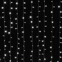 AGPTEK Solar Powered Curtain Icicle Lights, 3M X 3M 8 Modes