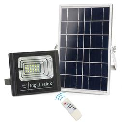 Solar Powered Flood Lights Outdoor, Remote Control IP67 Wate