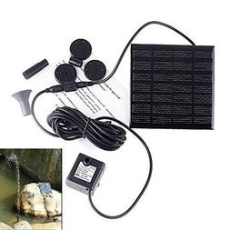 Dsstyle Solar Powered Fountain Pump, 7V Energy-Saving Submer