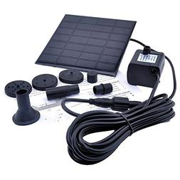 Solar Powered Fountain Pump, FOME 1.2W Free Standing Floatin