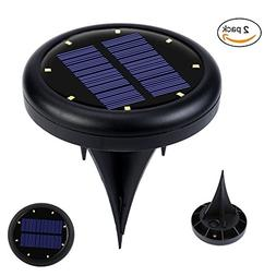 Wotryit 2PCS Solar Powered Ground Light Waterproof And Rain