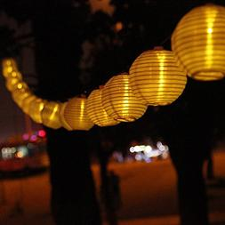 Windspeed Solar Powered Lantern String Lights, 20 LED Lights