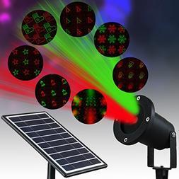 Solario Solar Powered Laser Light Projector w/ All-Metal Alu