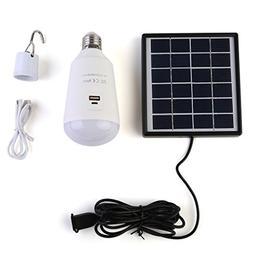 Solar Powered Led Light Bulb Lights Kits , SIEGES Portable O