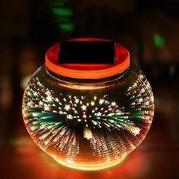 Solar Powered Outdoor Lights,AVEKI LED Color Changing 3D Gla