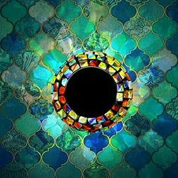 Solar Powered Mosaic Glass, MerryNine Solar Table Lamp Color