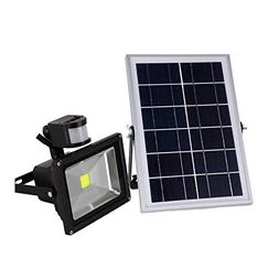 W-LITE 20W Led Solar Powered Motion Sensor Flood Light,Warm