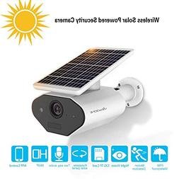 Outdoor Solar Powered Security Camera Low Power Rechargeable