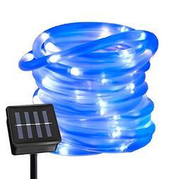 Ruichen Solar Powered String Light,16.5FT 50 LED Strip Rope
