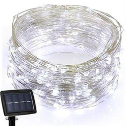 39.4ft Outdoor Led Solar Powered String Lights,100 LED Coppe