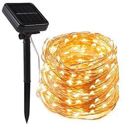 ECOWHO Solar Powered String Lights 200 LED 72 Feet 8 Lightin