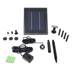 Sunnydaze Solar Pump and Solar Panel Kit With Battery Pack a