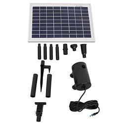 Sunnydaze 8W Outdoor Solar Pump and Panel Fountain Kit with