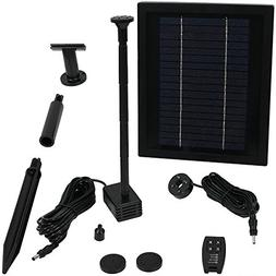 Sunnydaze Solar Pump and Solar Panel Kit with Battery Pack,