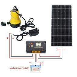 Solar Pump System W/ 120W Folding Solar Panel & DC 12V Water