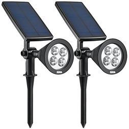 AMIR Solar Spotlights, Upgraded Solar Garden Light Outdoor,