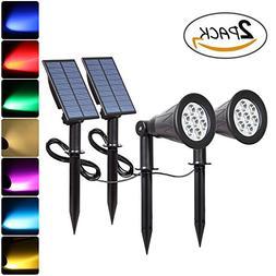 T-SUNRISE Solar Spotlights, 7 LED Color Changing Solar Light