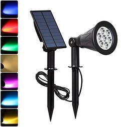 T-SUN  LED Solar Spotlights, Waterproof Outdoor Security Lan