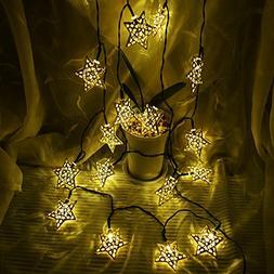 Hann Solar LED Star String Lights 12ft 20LED Decoration Ligh